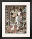 Chef with Goose Poster by Betty Whiteaker