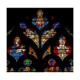 Window W232 Depicting God, the Virgin and Child, St Bernard Giclee Print