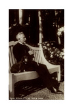 Ak Kaiser Wilhelm II Im Park Des Hauses Doorn, Dackel, Sitzbank Reproduction photographique