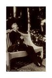 Ak Kaiser Wilhelm II Im Park Des Hauses Doorn, Dackel, Sitzbank Photographic Print