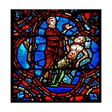 Window W12 Depicting a Scene in the Good Samaritan Window: Another Traveller Sees the Wounded… Giclee Print