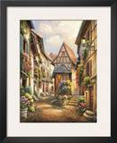Village Court Print by Sung Kim