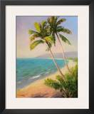 Palms On The Beach I Prints by Karen Dupré