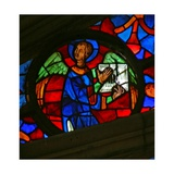 Window W141 Depicting an Angel with a Musical Instrument Giclee Print