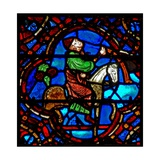 Window W12 Depicting a Scene in the Good Samaritan Window: the Doctor Arrives Giclée-Druck