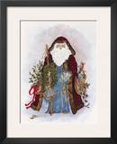 Celestial Santa Poster by Peggy Abrams