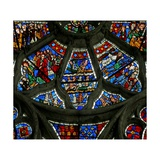 Window N3 Depicting Scenes from the Last Judgement Giclee Print