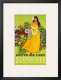 United Air Lines, Hawaii, The Lei Offering Prints