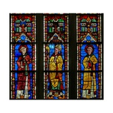 Window W21 Depicting St Sylvester with the Donor Jean De Bernieres; St Protais Giclée-Druck