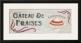 Gateau de Fraises Print by Louise Max