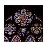 "Window W7 Depicting the Tracery Lights with Two Angels and ""Noli Me Tangere"" Giclee Print"