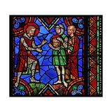 Window W06 Depicting St Julian of Brioude Story - St Ferreol, a Friend of Julien, Who Died During… Giclee Print