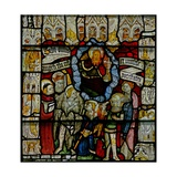 Window W24 Depicting the Te Deum with the Angelic Hierarchy Giclee Print