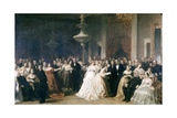 A Lincoln Reception at the White House, 1863 Giclee Print by Francis Bicknell Carpenter
