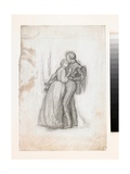 Study for the Figures in the Black Brunswickers, C.1860 Giclee Print by Simeon Solomon