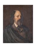 Alfred Tennyson, Poet Laureate, 1879 Giclée-Druck von Sir Hubert von Herkomer