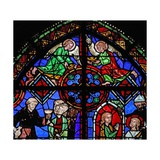Window W06 Depicting Angels at the Top of the St Brioude Window Giclee Print