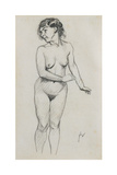 Standing Nude Giclee Print by Felix Edouard Vallotton