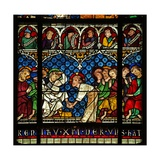 Window W12 Depicting Christ Washes His Disciples Feet Giclee Print