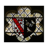 Window N5 Depicting Arms of Fitz-Ellis and Fawkener Giclee Print