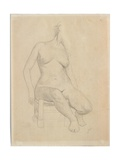 Seated Nude Giclee Print by Félix Vallotton