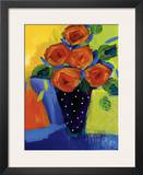 Spring Blooms In Blue Vase I Posters by Natasha Barnes