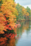 New England River and Fall Colors Photographic Print by Vincent James