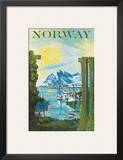 Norway: Fishing Village, c.1940s Posters