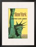 United Air Lines: New York, c.1950s Art by Stan Galli