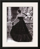 Black Evening Dress, Roma 1952 Print by Genevieve Naylor