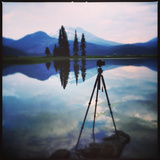 Photography Silouhettes at Sparks Lake Photographic Print by Vincent James
