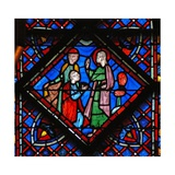 Window W9L St John the Baptist: Preaching and Blessing Giclée-Druck