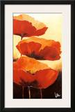 Three Red Poppies I Print by Jettie Rosenboom