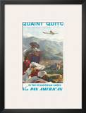 Pan American: Quaint Quito - In the Ecuadorian Andes, c.1938 Art by Paul George Lawler