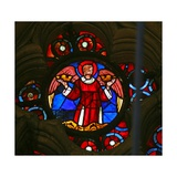 Window W141 Depicting an Angel Carrying Crowns Giclee Print