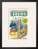 Pan American: Beirut - Lebanon by Clipper c.1950s Posters