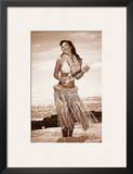Wahine with Ukulele: Hawaiian Hula Girl Prints by Celeste Manderville