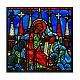 Window W29 Depicting St John on Patmos Writing to the Seven Churches of Asia Giclee Print