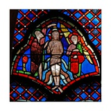 Window W9L the Baptism in the River Jordan: an Angel Attends Holding the Clothes Giclee Print
