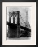 Brooklyn Bridge and Woolworth Building, 1921 Print by Irving Underhill