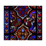 "Window W1 Depicting Christ Saying ""I Am the Resurrection and the Life"" Giclée-Druck"