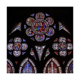 Window W9 Depicting the Tracery Lights with Two Angels and the Doubting St Thomas Giclee Print