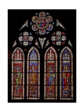 Window W9 Depicting Holy Roman Emperors: Charles Martel, Charlemagne, Pepin the Short, Louis the… Giclee Print