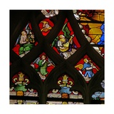 Window W105 Depicting Musician Angels Giclee Print