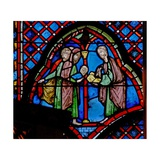 Window W9L St John the Baptist: His Father Zacharias Writes the Name of His Son Giclée-Druck