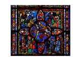 Window Depicting the Second Section of Window W7: at the Centre Is the Crucifixion of St Peter;… Giclee Print