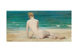 Nude Seated on the Shore, 1888 Giclee Print by John Reinhard Weguelin