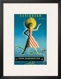 Pan American: Caribbean by Clipper, c.1958 Poster by Jean Carlu