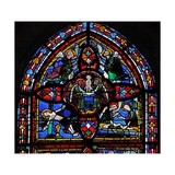 Window Depicting the Fifth Section of W7: the Death of St Peter: His Soul Ascends to Heaven Giclee Print