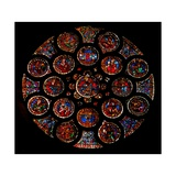 Depicting the Old Covenant; the Outer Circle of 8 Figures and 8 Naturalistic Designs Refer to the… Giclée-Druck